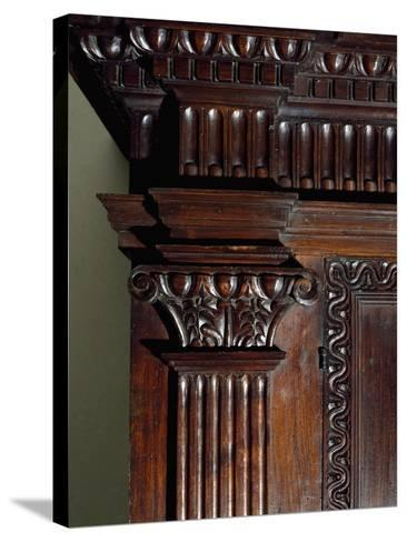 Walnut Wardrobe with Farnese Family Coat of Arms, Italy, Second Half 16th Century, Detail--Stretched Canvas Print