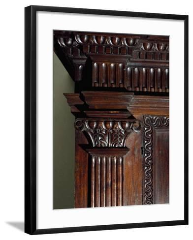 Walnut Wardrobe with Farnese Family Coat of Arms, Italy, Second Half 16th Century, Detail--Framed Art Print