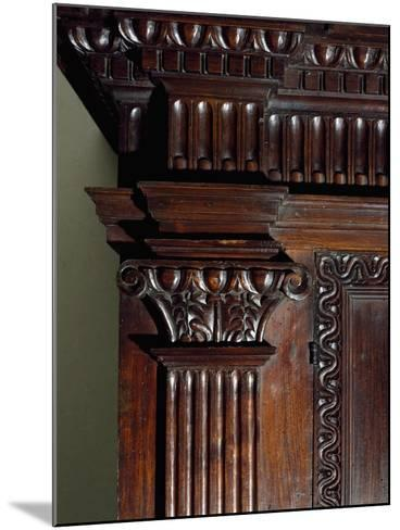 Walnut Wardrobe with Farnese Family Coat of Arms, Italy, Second Half 16th Century, Detail--Mounted Giclee Print