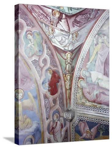 Detail from 15th Century Frescoes in Chapel of Angels in Monastery of St Scholastica, Subiaco--Stretched Canvas Print
