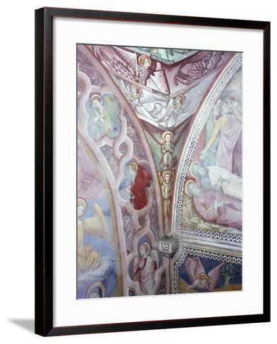 Detail from 15th Century Frescoes in Chapel of Angels in Monastery of St Scholastica, Subiaco--Framed Art Print