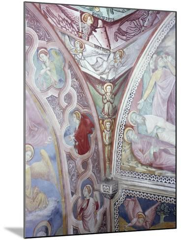 Detail from 15th Century Frescoes in Chapel of Angels in Monastery of St Scholastica, Subiaco--Mounted Giclee Print