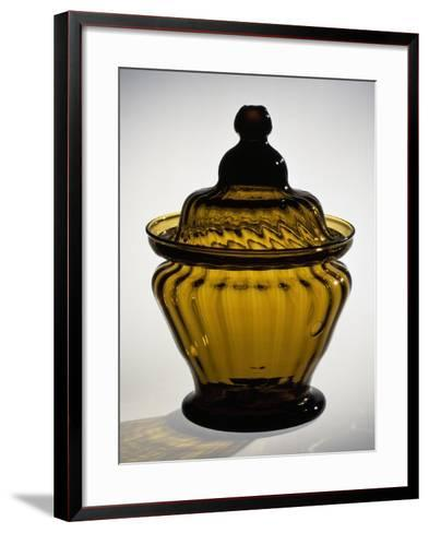 Pressed Glass Sugar Bowl, Possibly Zanesville Glass Works, Ohio, 1815-183--Framed Art Print