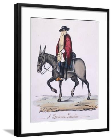 A Traveler in Peru, 1871--Framed Art Print