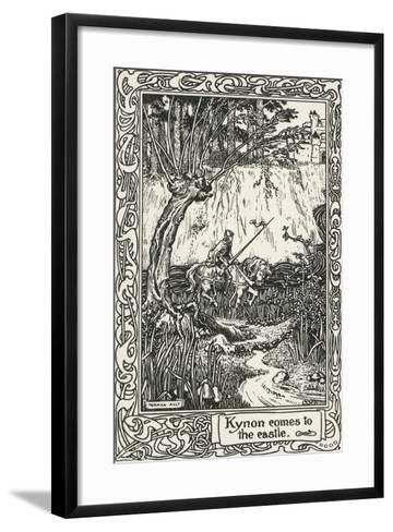 Kynon Reaching Castle from Mabinogion, Collection of Welsh Tales--Framed Art Print
