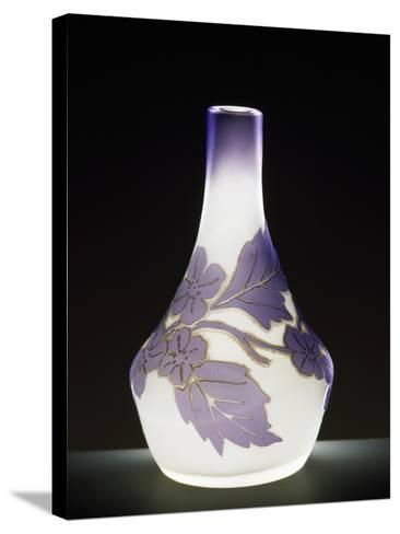 Soliflore Milk Glass Vase in Soft Purple with Cameo Engravings, 1910-1919--Stretched Canvas Print