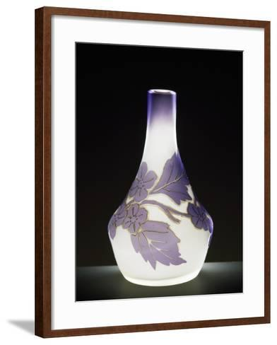 Soliflore Milk Glass Vase in Soft Purple with Cameo Engravings, 1910-1919--Framed Art Print