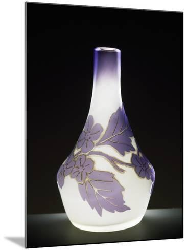 Soliflore Milk Glass Vase in Soft Purple with Cameo Engravings, 1910-1919--Mounted Giclee Print