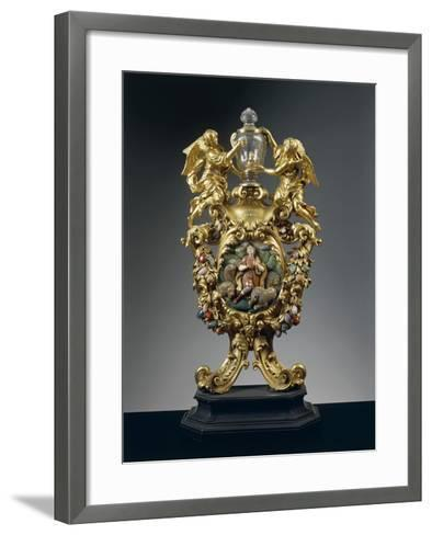 Reliquary of Saint Daniel in Silver, Gilded Bronze, Ebony and Pietre Dure, Height 68 Cm, 1705--Framed Art Print