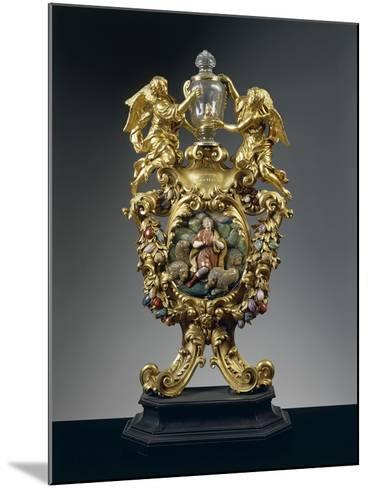 Reliquary of Saint Daniel in Silver, Gilded Bronze, Ebony and Pietre Dure, Height 68 Cm, 1705--Mounted Giclee Print