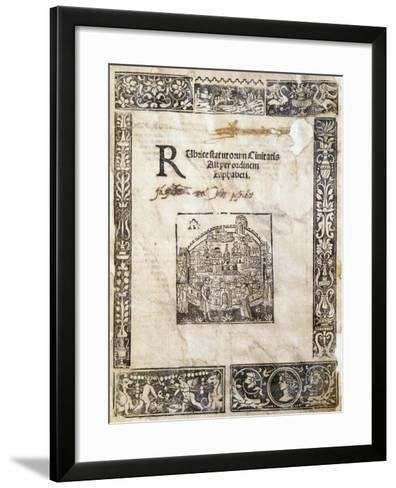 Book of Statutes of City of Asti, Italy--Framed Art Print