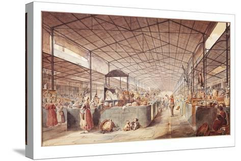 France, Paris, Les Halles Market by Max Berthelin, 1835--Stretched Canvas Print
