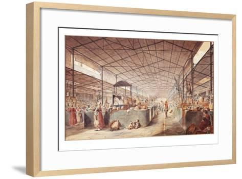 France, Paris, Les Halles Market by Max Berthelin, 1835--Framed Art Print