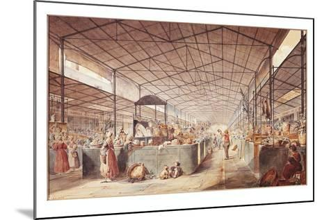 France, Paris, Les Halles Market by Max Berthelin, 1835--Mounted Giclee Print