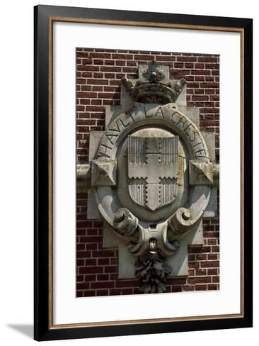 Crest, Detail from Chateau De Suzanne, Picardy, France, 17th-19th Century--Framed Art Print
