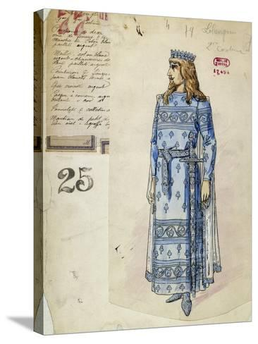 Lohengrin in Wedding Clothes Sketch of Costume for Lohengrin--Stretched Canvas Print