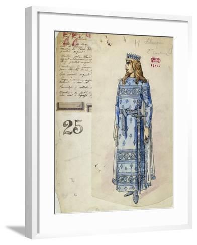 Lohengrin in Wedding Clothes Sketch of Costume for Lohengrin--Framed Art Print