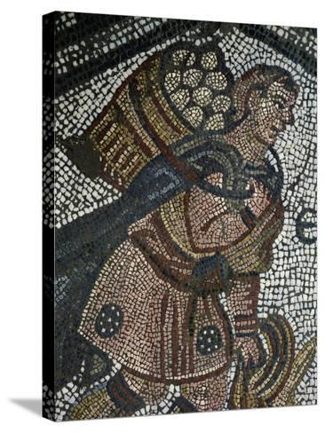 Young Farmer, Detail from Mosaic from Palace of Emperors of Byzantium--Stretched Canvas Print