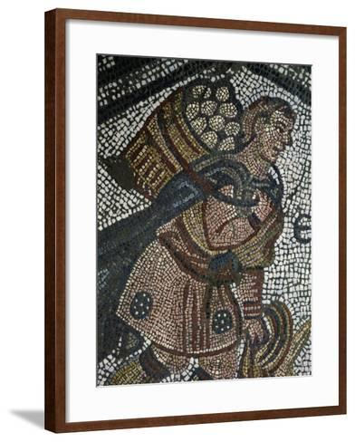 Young Farmer, Detail from Mosaic from Palace of Emperors of Byzantium--Framed Art Print