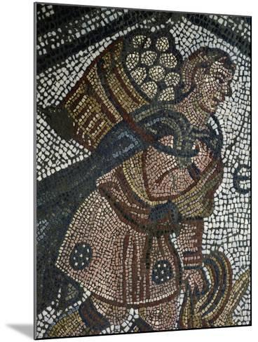 Young Farmer, Detail from Mosaic from Palace of Emperors of Byzantium--Mounted Giclee Print