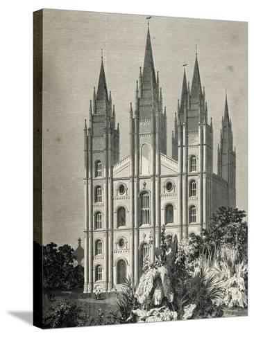 Mormon Temple, Salt Lake City, Utah, United States--Stretched Canvas Print