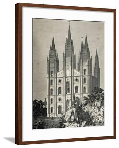 Mormon Temple, Salt Lake City, Utah, United States--Framed Art Print