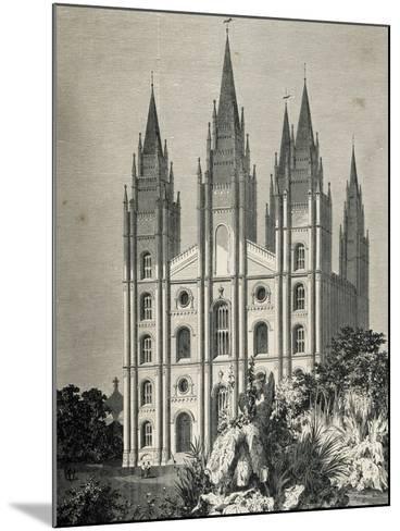 Mormon Temple, Salt Lake City, Utah, United States--Mounted Giclee Print