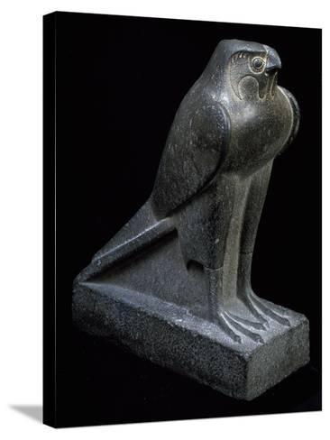 Falcon, Granite Statue--Stretched Canvas Print