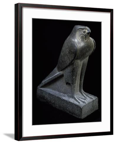 Falcon, Granite Statue--Framed Art Print