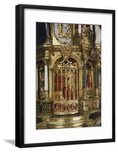 Coral Figurines, Detail from Silver-Gilt Altarpiece with White and Green Jade Crucifix--Framed Art Print