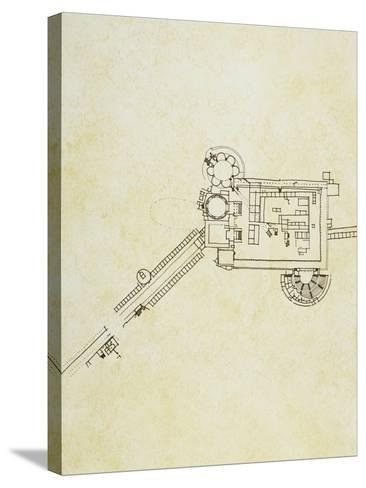 Floor Plan of Sanctuary of Asclepius in Pergamum, Asia Minor--Stretched Canvas Print
