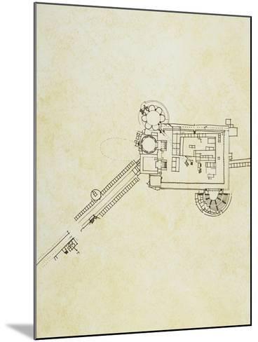 Floor Plan of Sanctuary of Asclepius in Pergamum, Asia Minor--Mounted Giclee Print