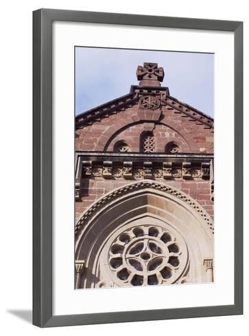 Spain, Navarre, Javier, Javier Castle, Castle Church Facade--Framed Art Print