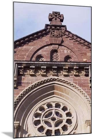 Spain, Navarre, Javier, Javier Castle, Castle Church Facade--Mounted Giclee Print