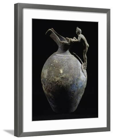 Bronze Pitcher with Anthropomorphic Handle, from Pompeii, Campania, Italy--Framed Art Print