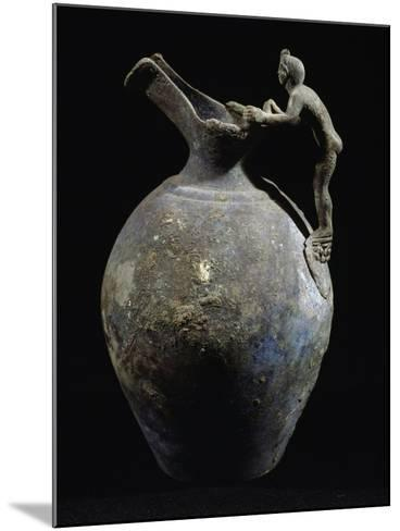 Bronze Pitcher with Anthropomorphic Handle, from Pompeii, Campania, Italy--Mounted Giclee Print