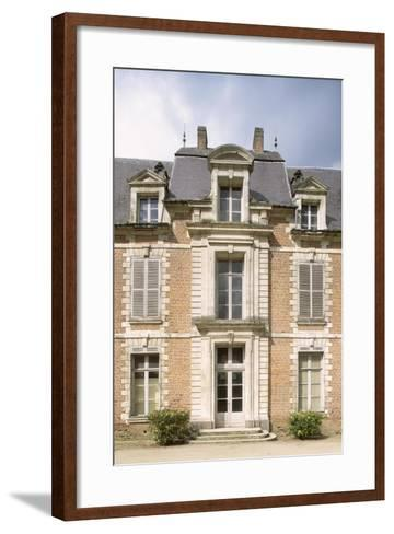 Chateau De Quevauvillers Facade, Picardy, Detail, France, 17th-18th Century--Framed Art Print