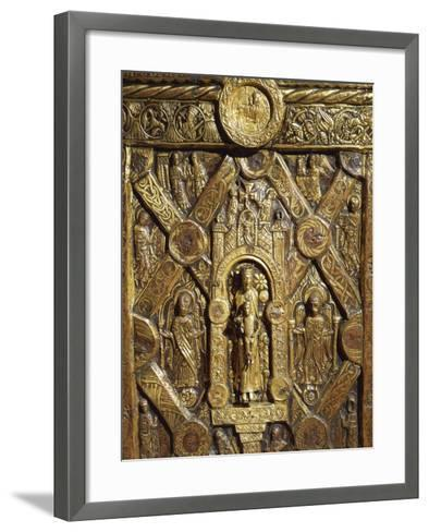 Altar Frontal Depicting Enthroned Virgin Mary and Angels, from Lisbjerg Near Aarhus--Framed Art Print