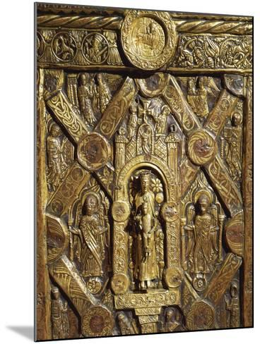 Altar Frontal Depicting Enthroned Virgin Mary and Angels, from Lisbjerg Near Aarhus--Mounted Giclee Print