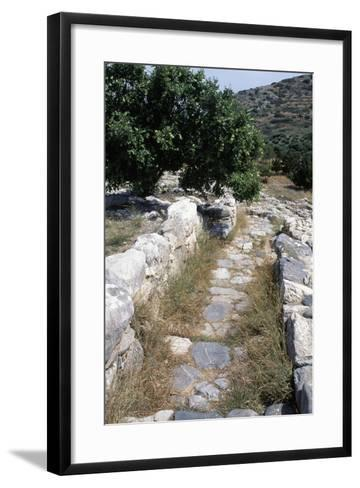 Paved Street Near Gournia Palace, Crete, Greece--Framed Art Print