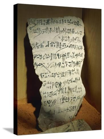Ostraka with Hieratic Writing--Stretched Canvas Print