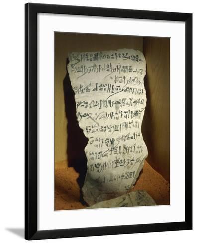 Ostraka with Hieratic Writing--Framed Art Print