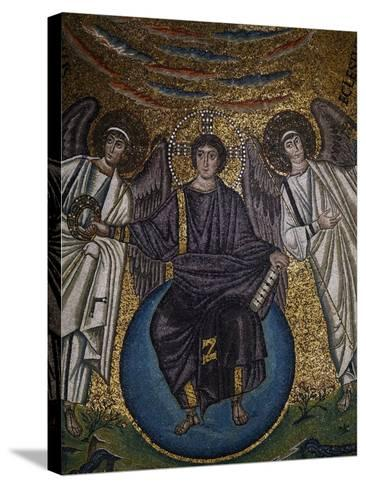 Christ as the Redeemer and Two Archangels--Stretched Canvas Print