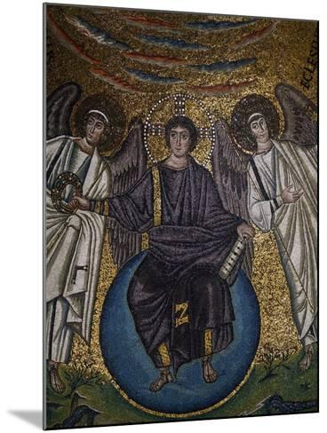 Christ as the Redeemer and Two Archangels--Mounted Giclee Print
