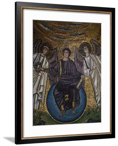 Christ as the Redeemer and Two Archangels--Framed Art Print