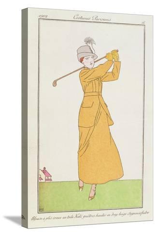 Blouse a Plis Creux En Toile, Kaki Quetres Hautes En Drap Beige, Chapeau a Feutre--Stretched Canvas Print