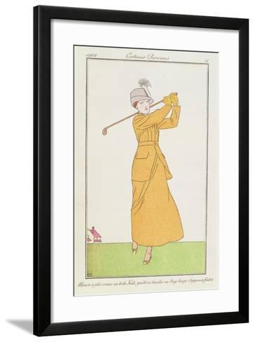 Blouse a Plis Creux En Toile, Kaki Quetres Hautes En Drap Beige, Chapeau a Feutre--Framed Art Print