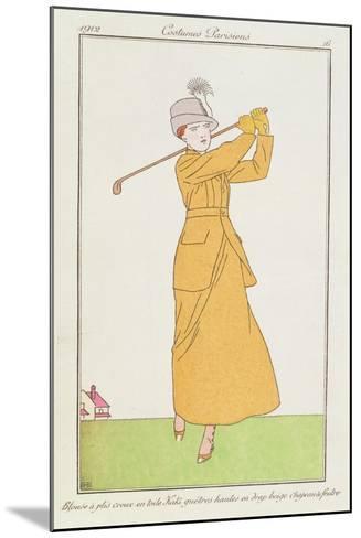 Blouse a Plis Creux En Toile, Kaki Quetres Hautes En Drap Beige, Chapeau a Feutre--Mounted Giclee Print