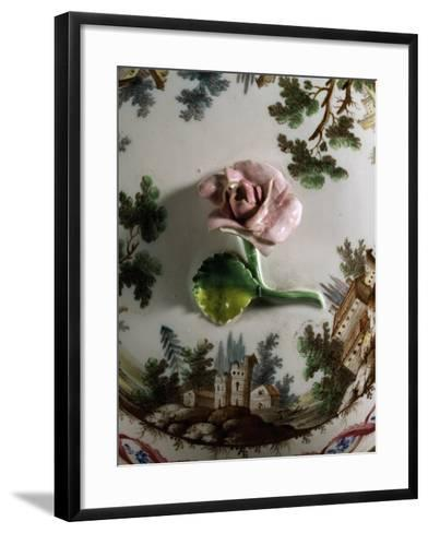 Soup Bowl Lid, 1790, Porcelain, Ginori Manufacture, Doccia, Sesto Fiorentino, Tuscany--Framed Art Print