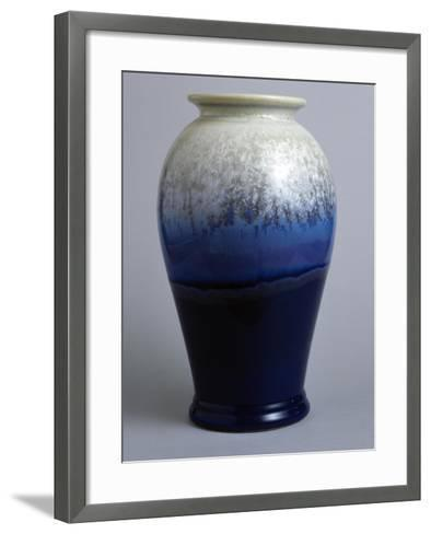 Blue and White Canton Vase, Starfire Collection--Framed Art Print